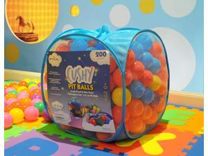 "EnviUs Cushy Pit Balls - Prince 200 : ""Phthalates Free"" 200 Count 6.5 CM w/Blue Mesh Tote Bag : 6 Colors (30 Red, 30 Orange, 30 Yellow, 30 Green, 50 Blue, 30 Purple)"
