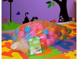 "EnviUs Cushy Pit Balls - Royals 200 : ""Phthalates Free"" 200 Count 6.5 CM in Plastic Bag : 7 Colors (20 Red, 20 Orange, 20 Yellow, 20 Green, 20 Purple, 50 Blue, 50 Pink)"