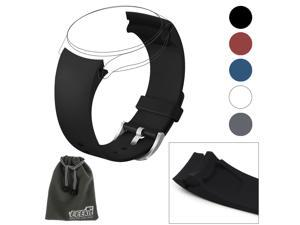 EEEKit Replacement for Samsung Gear S2 Classic SM R732 Version ONLY Smartwatch, Silicone Watch Band Bracelet Straps and Storage Pouch