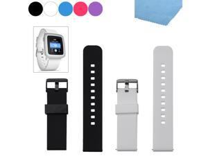 EEEKit 2 in 1 Replacement for Pebble Time Smartwatch, Universal 22mm Silicone Watch Bands Bracelet Straps and Cleaning Cloth