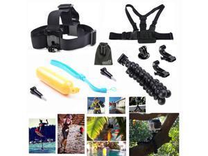 EEEKit 8in1 Accessories Kit  for Gopro HD Hero 3+3 2 1,Head/Chest Belt Tripod Mount+Floating Grip