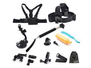 EEEKit Accessories kit for Gopro HD Hero 3+3 2 1,Chest Head Floaty Mount Monopod