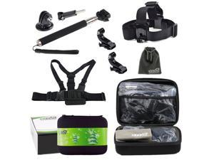 EEEKit Holiday Gift Pack for GoPro Hero4 Hero HD 4/3+/3,Head/Chest/Monopod Mount