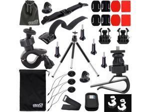 EEEKit Basic Sports Mount Accessories Kit for GoPro Hero4 Hero 4 Black Silver 3+