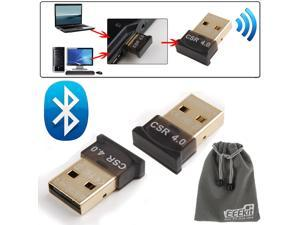 EEEKit USB Bluetooth 4.0 Kit for PC Laptop, 2 PCS USB Bluetooth 4.0 Dongle Adapter + EEEKit Pouch