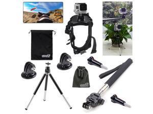 EEEKit Camping Kit for GoPro Hero4 Hero 4/3/2/1,Dog Neck/Tripod/Monopod Mount