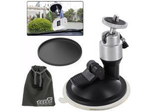 EEEKit Car Kit for Sony Action Cam HDR-AS10/AS15/AS20/AS30V/AS100V/HDR-AZ1 Mini, Car Windshield Adjustable Suction Mount Holder + Car Suction Cup Pad + EEEKit Storage Pouch