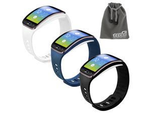 EEEKit for Samsung Gear S SM-R750,3 TPU Replacement Watch Case Cover Band Strap