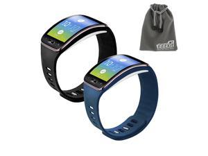 EEEKit 2-in-1 Starter Kit for Samsung Gear S SM-R750, 2 PCS Soft TPU Replacement Watch Band Case Cover Strap Bracelet
