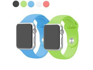 EEEKit 2-in-1 Bundle For Apple Watch 42mm  Iwatch all Version, 2 Packs Soft Silicon Replacement Watch Band Strap Bracelet With Watch Band Adapter