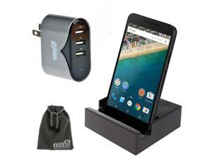 EEEKit Charger Kit For Google Nexus 6P/5X,OnePlus 2,Lumia 950/950 XL,Lenovo Zuk Z1,Type-C Data Charger Station Sync Dock Stand Charding Cradle+3-ports USB AC Home Wall Power Charger Adapter