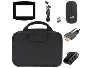 EEEKit 5in1 Stater Kit for ASUS ZenBook UX305CA, Carrying Briefcase Sleeve Case Bag, Micro HDMI To HDMI Cable, 2.4G Wireless Mouse, 3 Port USB OTG Hub