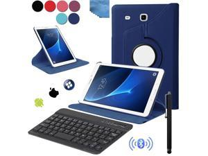EEEKit 3in1 Office Kit for Samsung Galaxy Tab A 7.0 Inch Tablet SM T280 / SMT285, Rotating Smart Folio Stand Case Cover, Wireless Keyboard and Stylus