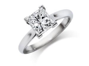 1.04 CARAT PRINCESS CUT  DIAMOND ENGAGMENT RING E COLOR I1 CLARITY ENHANCED Available in sizes 4 - 4.5 - 5 - 5.5 - 6 - 6.5 - 7 - 7.5 - 8 - 8.5 - 9 - 9.5 - 10
