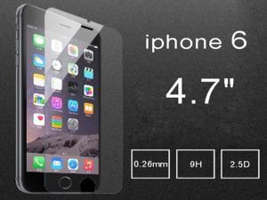 "Real 0.26mm 9H 2.5D Tempered Glass Film Screen Protector for 4.7"" iphone 6"