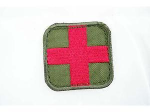 "Condor Medic Patch Olive / Red  New Hook Velcro Back 2"" X 2"" #231"