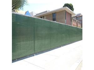 4' x 50' Fence Wind Privacy Screen Fabric Mesh Brass Grommets 4x50
