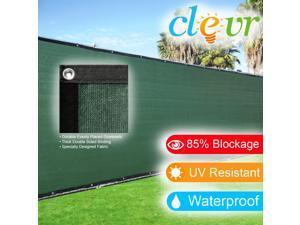 6' x 50' Fence Wind Privacy Screen Fabric Mesh Brass Grommets 6x50 Zip Ties