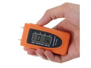 2 Pins Digital Mini LCD Wood/Cotton/Bamboo Moisture Meter Damp Tester Detector