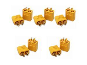 5 Pairs (10pcs) XT-60 Male Female Bullet Connectors RC Hobby Battery Plugs