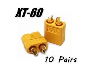 Lots 10 Pairs (20pcs) XT-60 Male Female Bullet Connectors RC Hobby Battery Plugs