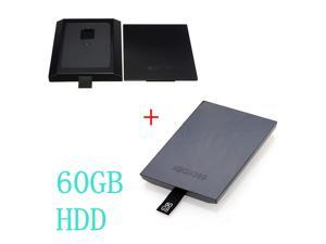 60GB 60G 60 GB Internal HDD Hard Drive Disk Kit Black + Replacement Case Shell For Microsoft Xbox 360 Slim