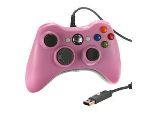 Pink USB Game Pad Gamepad Joystick Jaypad Wired Controller For Xbox360 Xbox 360 Slim PC Windows 7