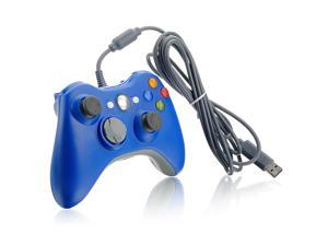 Blue USB Dual Shock Game Pad Wired Controller Gamepad Joystick Jaypad for Microsoft Xbox 360 PC