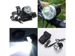 2000Lm CREE XML T6 LED Cycling Front Light Waterproof Headlamp