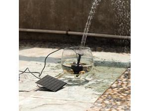 Solar Panel Power Submersible Fountain Pond Solar Water Pump Fountain pool garden sun light watering
