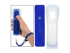Wireless Wiimote Remote Controller +Case Strap for Nintendo Wii Deep Blue