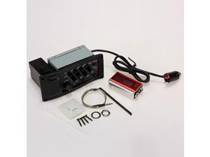 4 Bands Piezo Pickup EQ-7545R Acoustic Guitar Preamp Amplifier Equalizer Tuner Parts Accessaries