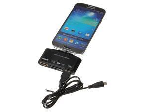 Micro USB OTG SD FT Card Reader HUB MHL-HDMI Adapter for Galaxy S4 Note 2 Samsung