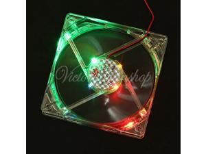 New 120mm x120mm x25mm 4 Pin Case Fan 12V CPU Cooler Cooling Fan PC Computer Heatsink with Colorful LED Light