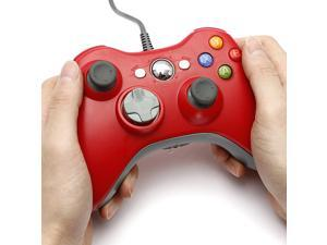 Red USB Dual Shock Controller Gamepad Joystick Jaypad for Microsoft Xbox 360 PC