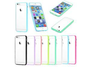 "Ultra Thin TPU Bumper PC Matte Clear Protector Case Cover for 5.5"" iPhone 6 Plus"