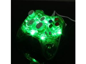 2015 NEW USB Transparent  Light Glow Wired USB  Gamepad Game pad Joystick  Controller  For Microsoft XBOX 360 & PC