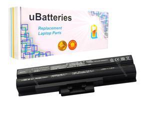 UBatteries Laptop Battery Sony VAIO VGN-AW VGN-BZ VGN-CS VGP-BPL21 - 4400mAh, 6 Cell (Black)