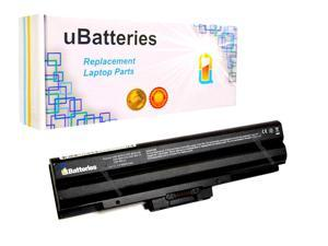 UBatteries Laptop Battery Sony VAIO VGN-NW VGP-BPS13 VGP-BPS13A/R - 6600mAh, 9 Cell (Black)