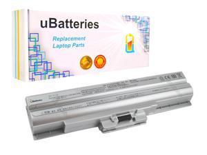 UBatteries Laptop Battery Sony VAIO VGN-AW VGN-BZ VGN-CS VGP-BPL21 - 5200mAh, 11.1V, Samsung 2.6A Cells - UBMax Series (Silver)