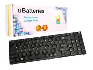 UBatteries Laptop Keyboard Toshiba Satellite A665-S6087 - (Black)