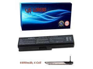 Laptop Battery Toshiba Satellite A665-S6087 A665-S6088 A665-S6089 A665-S6090 A665-S6092 A665-S6093 A665-S6094 (Loreso Replacement Part)- 4400mAh, 6 Cell