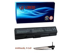 Laptop Battery Toshiba Satellite L305-S5917 L305-S5918 L305-S5919 L305-S5920 L305-S5921 L305-S5924 L305-S5926 (Loreso Replacement Part) - 6600mAh, 9 Cell