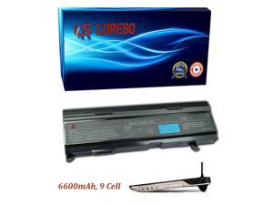 Laptop Battery Toshiba Satellite M100-180 M100-195 M100-221 M100-222 M100-233 M100-JG2 M100-ST5111 (Loreso Replacement Part) - 6600mAh, 9 Cell