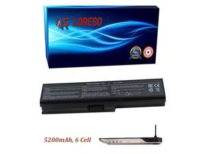 Laptop Battery Toshiba Satellite A665-S6087 A665-S6088 A665-S6089 A665-S6090 A665-S6092 A665-S6093 A665-S6094 (Loreso Replacement Part) - 5200mAh, 6 Cell (Samsung 2.6A Cells)