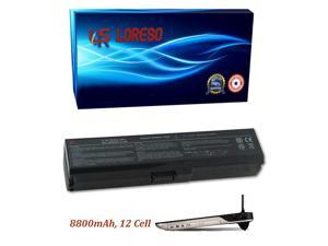 Laptop Battery Toshiba Satellite A665-S6087 A665-S6088 A665-S6089 A665-S6090 A665-S6092 A665-S6093 A665-S6094 (Loreso Replacement Part) - 8800mAh, 12 Cell