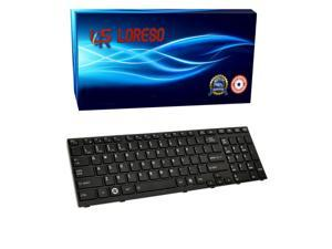 Laptop Keyboard Toshiba Satellite A665-S6070 A665-S6079 A665-S6080 A665-S6081 A665-S6085 A665-S6086 A665-S6087 Black - (Loreso Replacement Part)