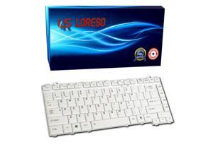 Laptop Keyboard Toshiba Satellite A215-S48171 A215-S5802 A215-S5807 A215-S5808 A215-S5815 A215-S5817 A215-S5818 Silver - (Loreso Replacement Part)