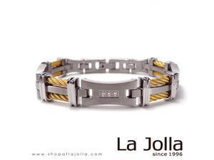 Titanium Jewelry Men's Bracelet with Germanium and Magnetite-Silk Road