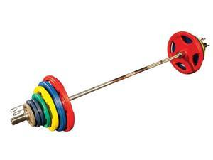 Body-Solid Colored Rubber Grip Olympic Weights 300 lbs Weight Set OR300S *New*
